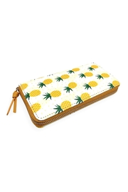 Riah Fashion Pineapple Print Zipper Wallet - Product Mini Image
