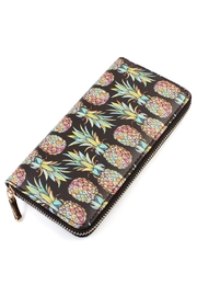 Riah Fashion Pineapple-Print  Zipper Wallet - Product Mini Image