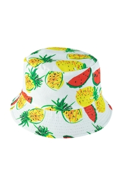 Riah Fashion Pineapple Watermelon Print Double-Side-Wear Reversible Bucket Hat - Product Mini Image