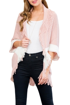 Shoptiques Product: Pink Two-Tone Cardigan