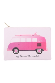 Riah Fashion Pink-Volkswagen-Print Pouch - Product Mini Image
