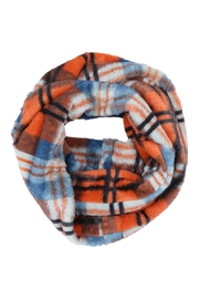 Riah Fashion Plaid-Faux-Fur-Inifinity-Scarf-Assorted-Set - Front cropped