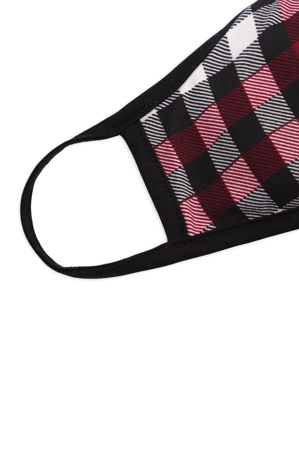 Riah Fashion Plaid-Printed-Reusable-Face-Masks-For-Adults - Front Full Image
