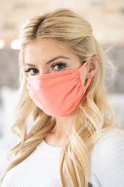 Riah Fashion Plain Reusable Face Mask For Adults - Front cropped