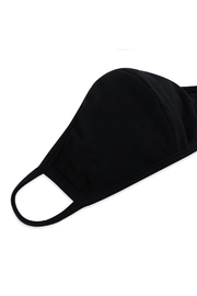 Riah Fashion Plain Reusable Face Mask For Adults With Filter Pocket - Side cropped