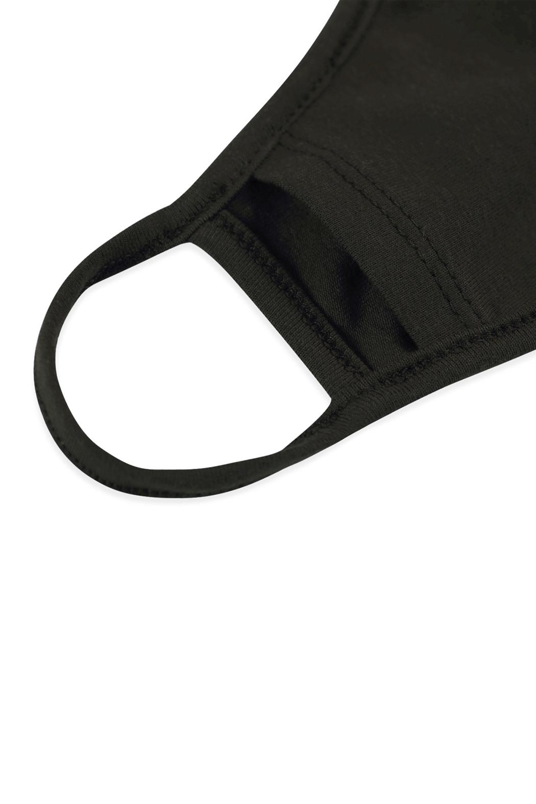 Riah Fashion Plain Reusable Face Mask For Adults With Filter Pocket - Back Cropped Image