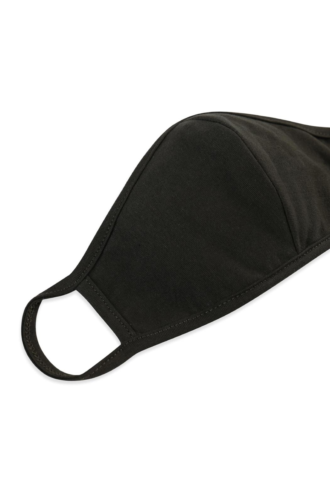 Riah Fashion Plain Reusable Face Mask For Adults With Filter Pocket - Side Cropped Image