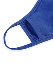 Riah Fashion Plain Reusable Face Mask For Adults With Filter Pocket - Back cropped