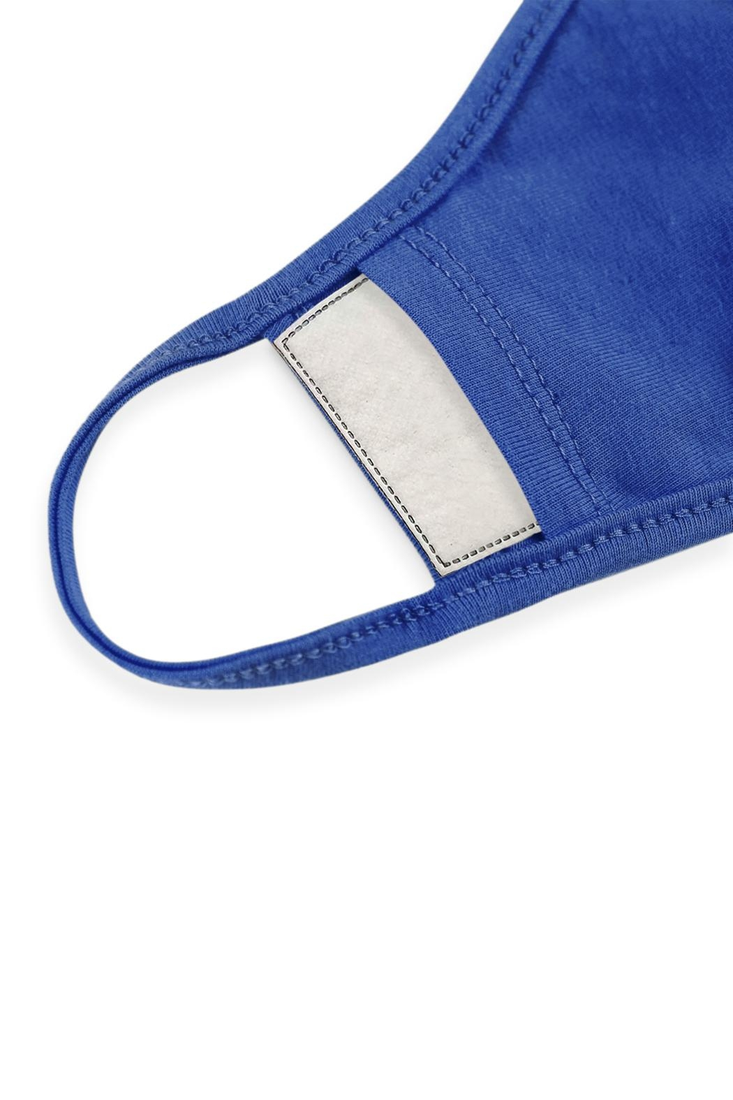 Riah Fashion Plain Reusable Face Mask For Adults With Filter Pocket - Front Full Image
