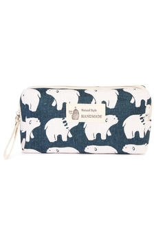 Shoptiques Product: Polar Bear Cosmetic Pouch