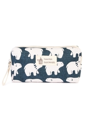 Riah Fashion Polar Bear Cosmetic Pouch - Product Mini Image