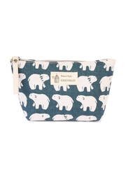 Riah Fashion Polar Bear Print Pouch - Front cropped