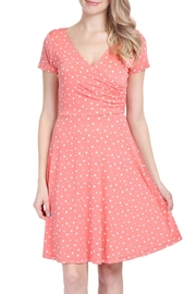 Riah Fashion Polka Dot Dress - Front cropped
