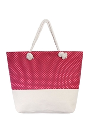 Riah Fashion Polka Dot Jumbo Tote - Product Mini Image