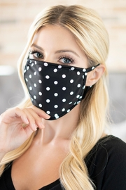 Riah Fashion Polka Dots Reusable Face Mask For Adults With Filter Pocket - Product Mini Image