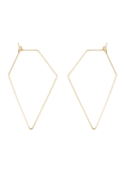 Riah Fashion Polygon Shape Brass-Earrings - Product Mini Image