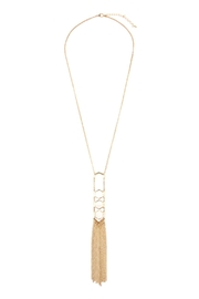 Riah Fashion Polygon Tassel Necklace - Product Mini Image