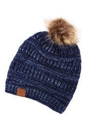 Riah Fashion Pom Knit Beanie - Front cropped