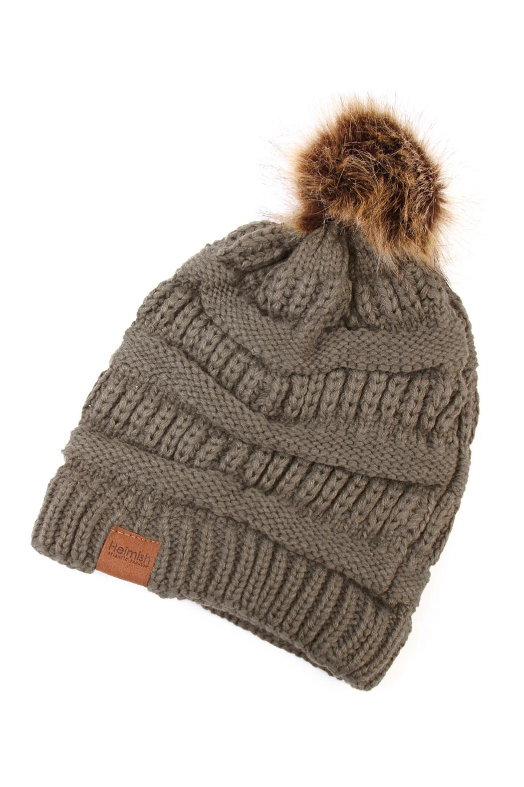 Riah Fashion Pom Knit Beanie - Main Image