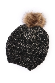 Riah Fashion Pom Knitted Beanie - Front cropped