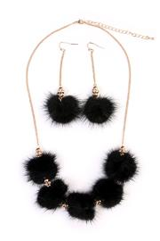Riah Fashion Pom Necklace Set - Product Mini Image