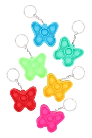 Riah Fashion Pop-Fidget-Sensory-And-Stress-Reliever-Butterfly Multicolor-Toy-Keychain - Front cropped