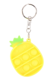 Riah Fashion Pop-Fidget-Sensory-And-Stress-Reliever-Cute-Pineapple-Toy-Keychain - Product Mini Image