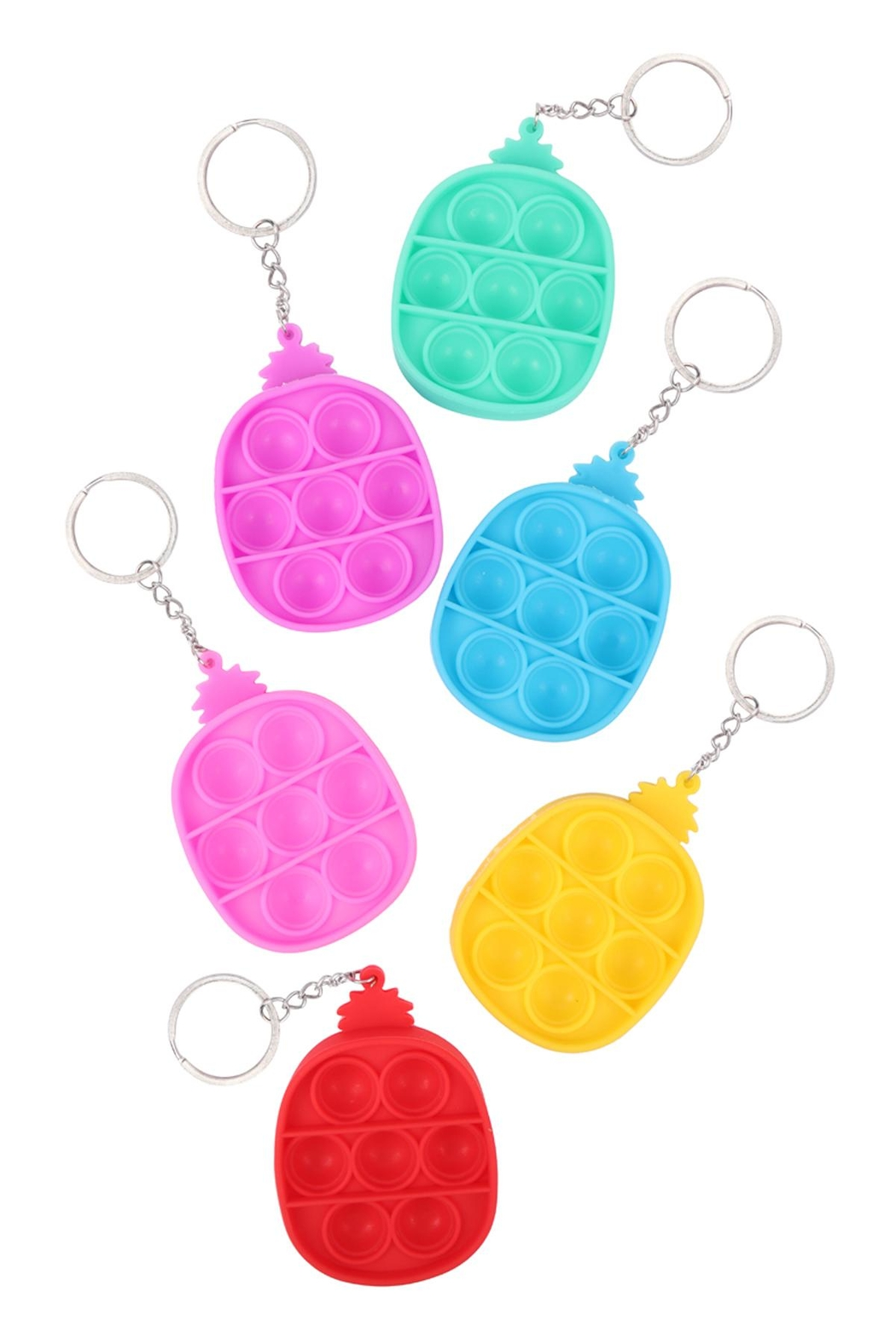 Riah Fashion Pop-Fidget-Sensory-And-Stress-Reliever-Pineapple-Multicolor-To-Keychain - Main Image