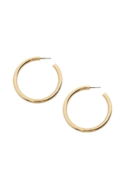 Riah Fashion Post Hoop Earrings - Product Mini Image