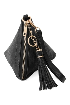 Shoptiques Product: Pyramid Shape Leather Wristlet Bag