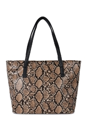 Riah Fashion Python Print Leather Tote Bag - Product Mini Image