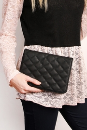 Riah Fashion Quilted Chan Crossbody Bag - Side cropped