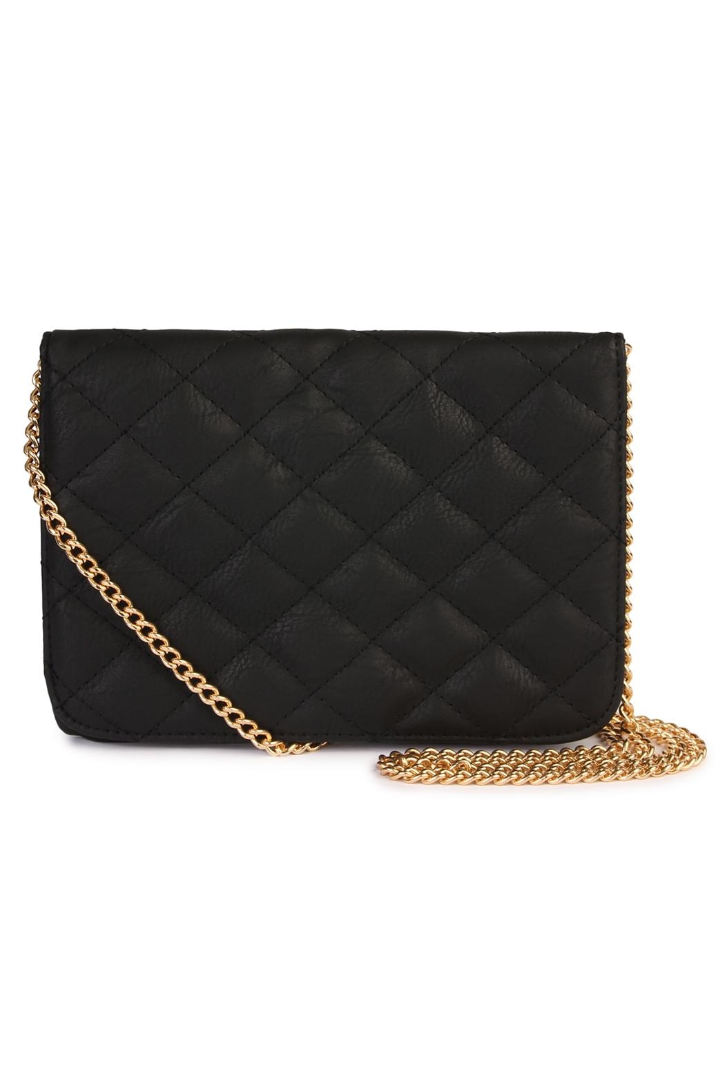 Riah Fashion Quilted Chan Crossbody Bag - Front Cropped Image