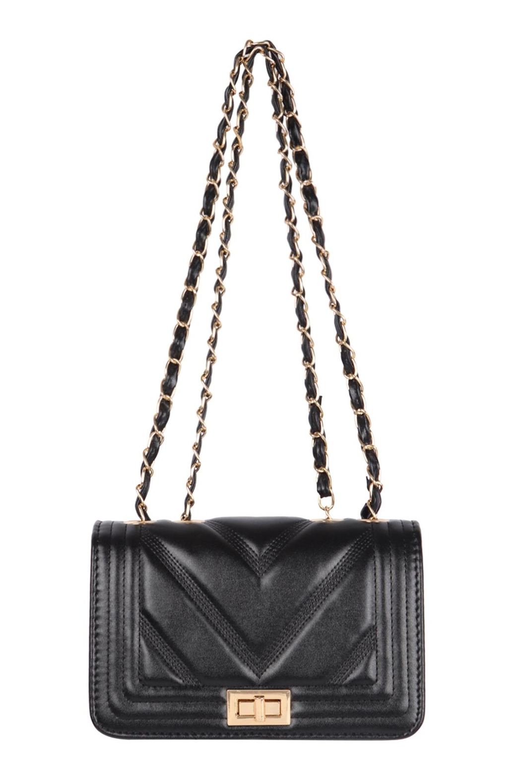 Riah Fashion Quilted-Designe-Leather-Fahion-Bag-Cross-Body-Bag - Front Cropped Image