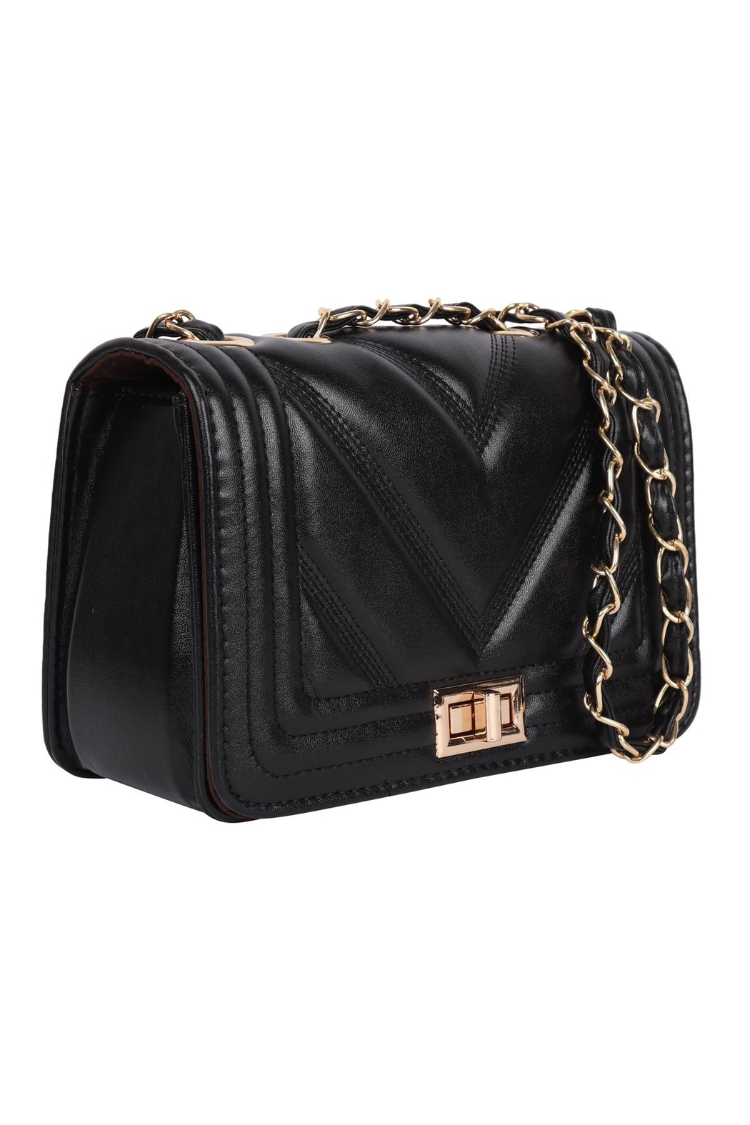 Riah Fashion Quilted-Designe-Leather-Fahion-Bag-Cross-Body-Bag - Front Full Image