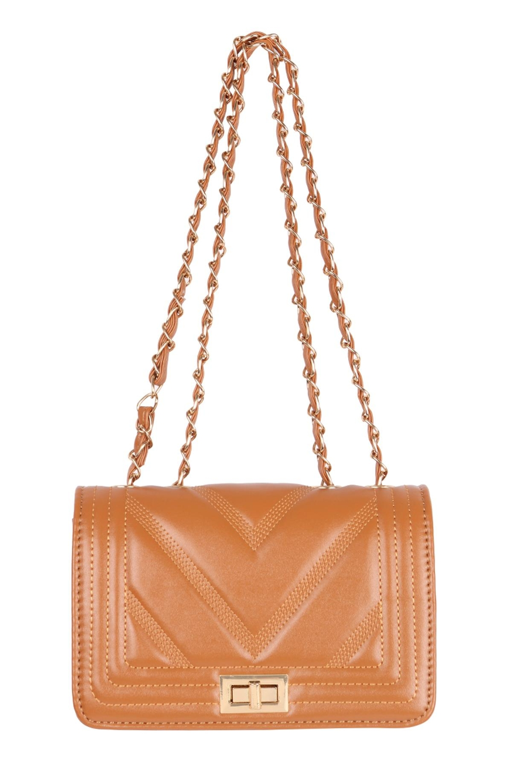Riah Fashion Quilted-Designe-Leather-Fahion-Bag-Cross-Body-Bag - Main Image