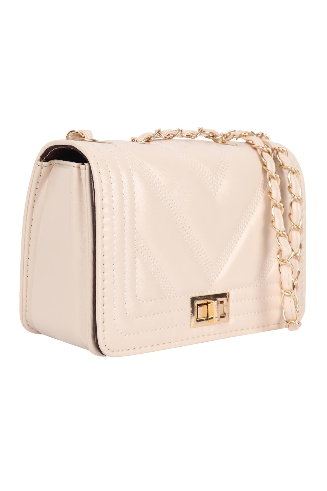 Riah Fashion Quilted-Designe-Leather-Fahion-Bag-Cross-Body-Bag - Side Cropped Image
