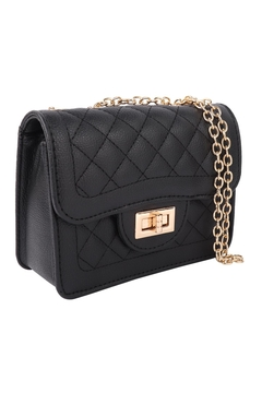 Riah Fashion Quilted-Diamond-Leather-Cross-Body-Bag - Alternate List Image