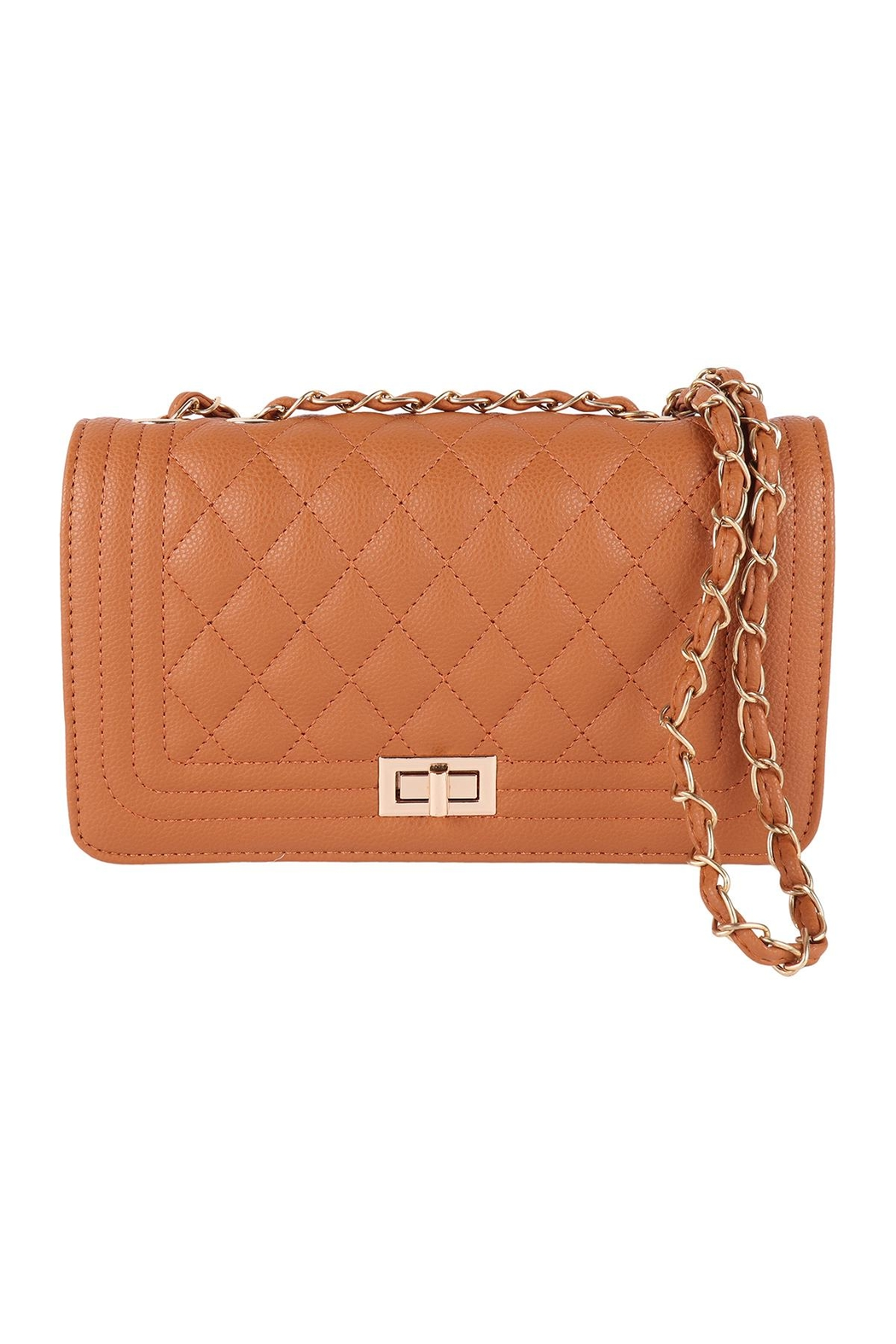 Riah Fashion Quilted-Diamond-Pattern-Fashion-Sling-Bag - Front Cropped Image
