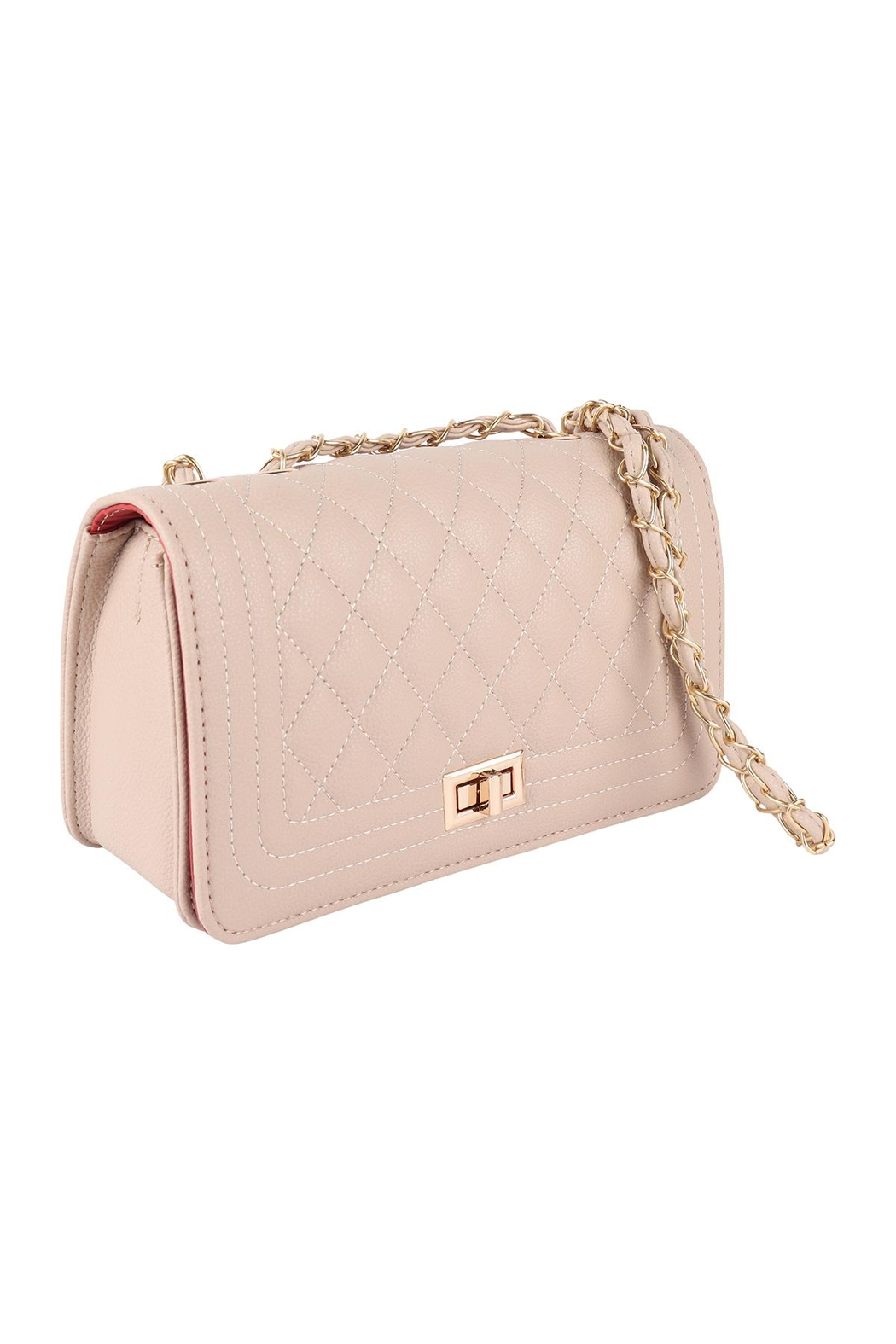 Riah Fashion Quilted-Diamond-Pattern-Fashion-Sling-Bag - Front Full Image