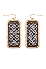 Riah Fashion Rectangular Filigree Earrings - Product Mini Image