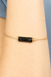 Riah Fashion Rectangular Stone Wired Bracelet - Front full body