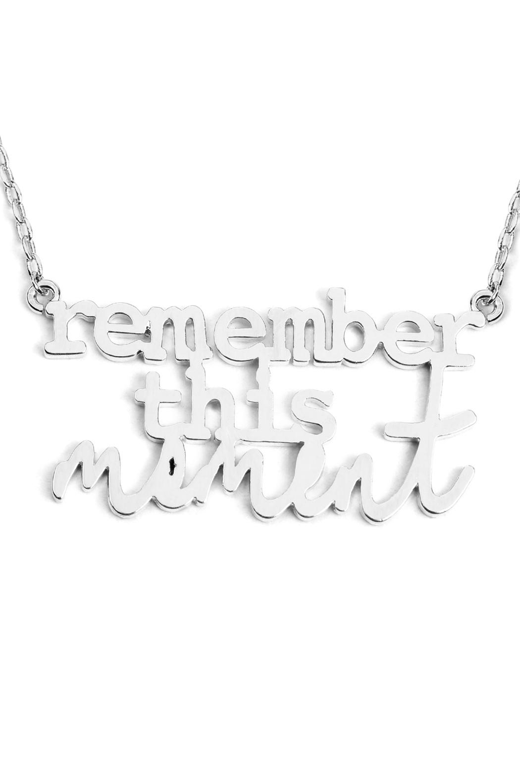 Riah Fashion Remember-This-Moment Message Necklace - Front Full Image