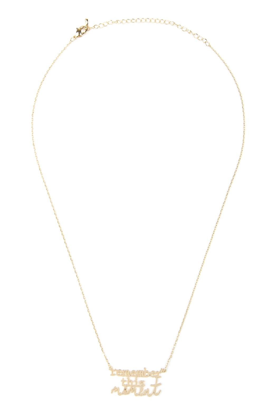 Riah Fashion Remember-This-Moment Message Necklace - Main Image