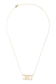 Riah Fashion Remember-This-Moment Message Necklace - Product Mini Image