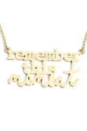 Riah Fashion Remember-This-Moment Message Necklace - Front full body