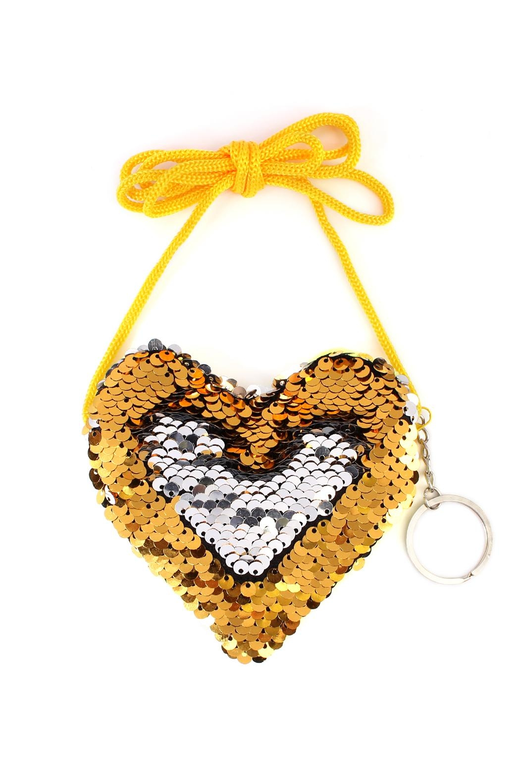 Riah Fashion Reversible-Heart Sequin Crossbody-Bag - Main Image