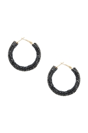 Riah Fashion Rhinestone Coated Hoop-Earrings - Front cropped