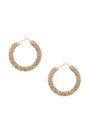 Riah Fashion Rhinestone Coated Hoop-Earrings - Product Mini Image