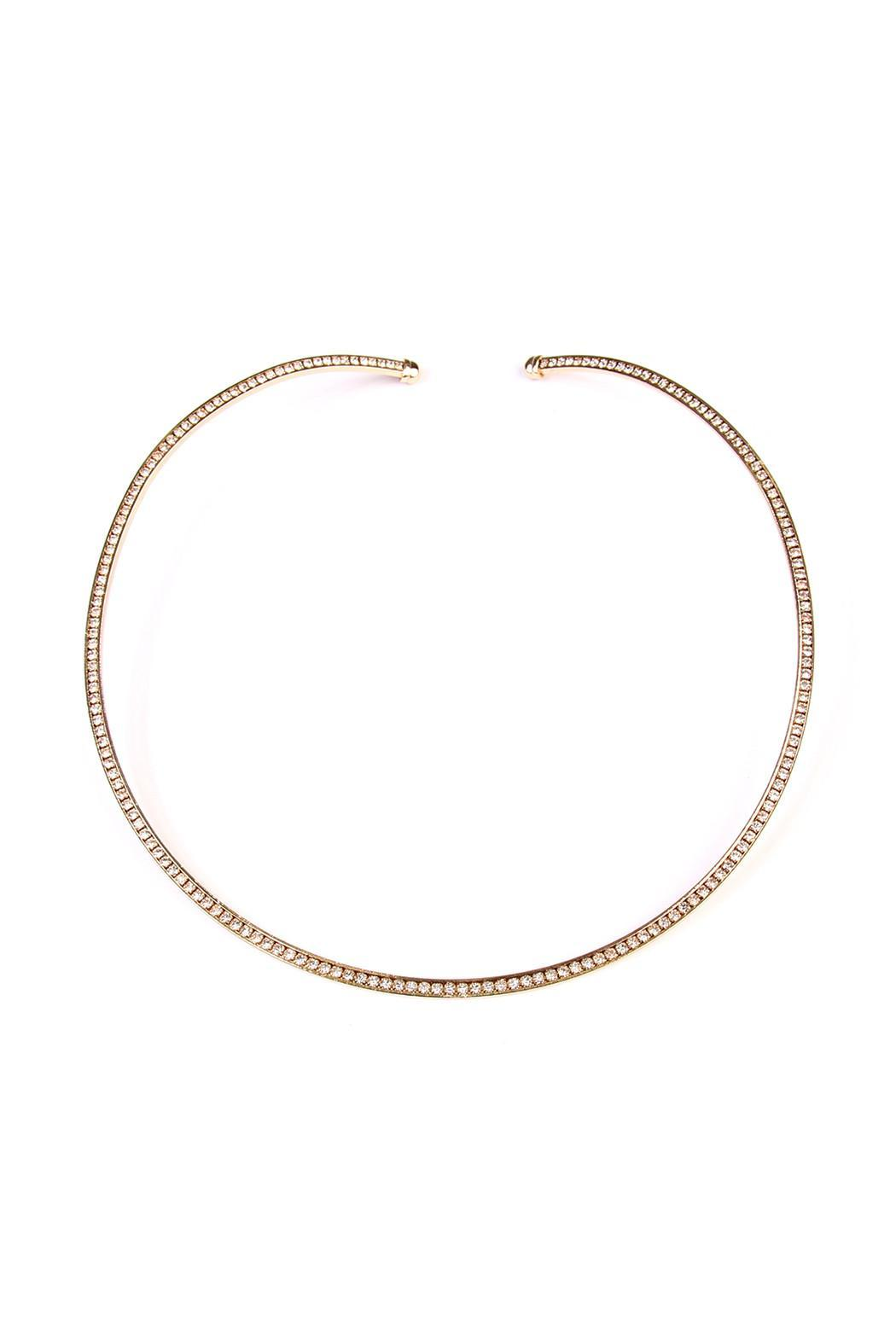 Riah Fashion Rhinestone Collar Necklace - Main Image